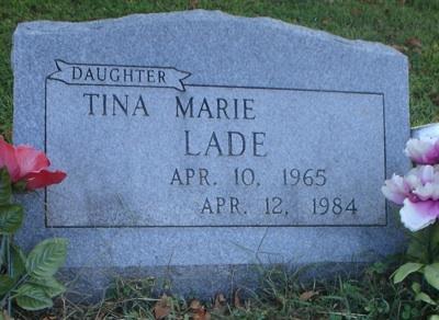 Tina Lade's gravestone