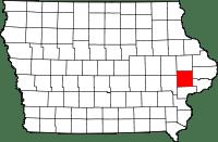 Cedar County in Iowa