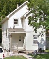 Pennye Watson was dumped along the street curb in front of this Des Moines home.