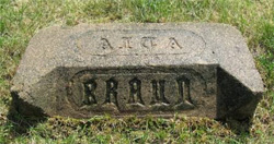 Alta Braun gravestone