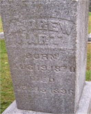 Andrew Hart tombstone for decades page