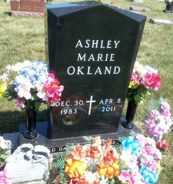 Ashley Okland gravestone
