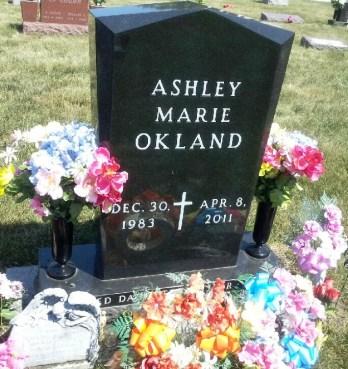Ashley Okland gravestone