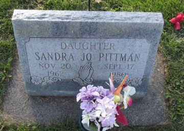 Sandra Pittman's gravestone