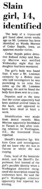 Courtesy Tucson Daily Citizen, Oct. 29, 1976