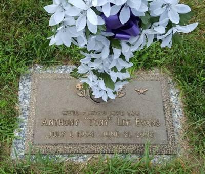 Anthony Evans gravestone