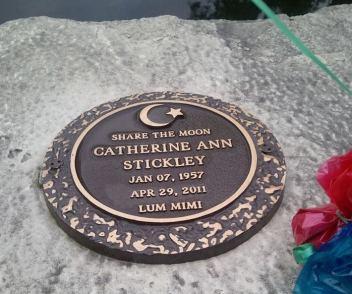 Cathy is buried at Memorial Park Cemetery in Cedar Rapids.