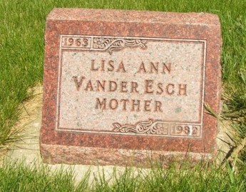 Lisa Vander Esch gravestone