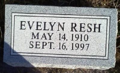 Evelyn Resh gravestone