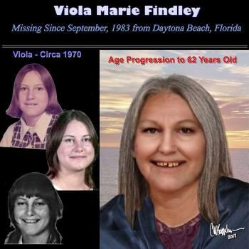 Viola Findley age progressed to 62