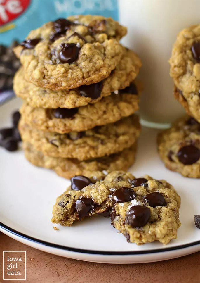 Main image of Brown Butter Oatmeal Chocolate Chip Cookies