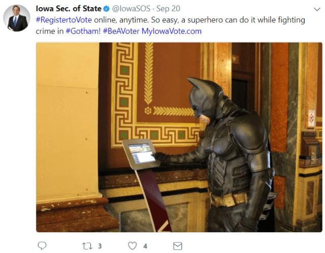 Iowa Sec. of State/Twitter