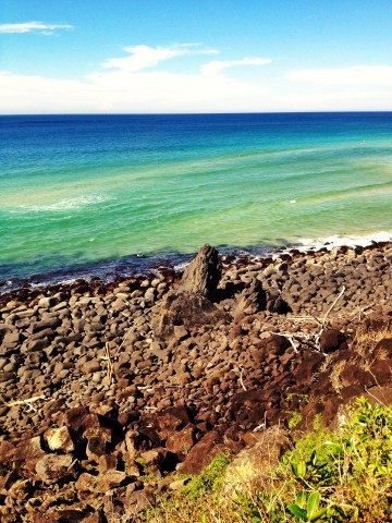 Huge rocks on the beach