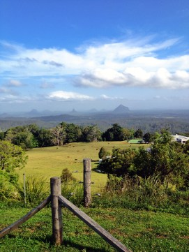 View from Mary Cairncross park of the Glass Mountains