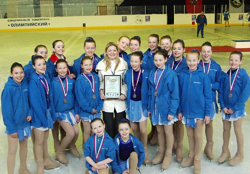 Wight Diamonds with their medals, Moscow 2008