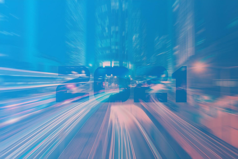 Die IoT Trends 2021: Smart City mit 2021 Schirftzug