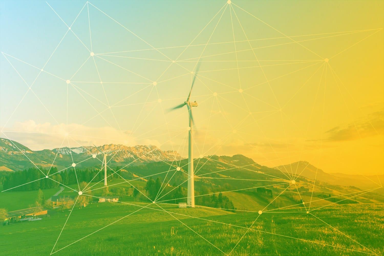 Zum Artikel Smart Grid: Windanlage auf einem Feld mit IoT-Netz
