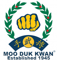 Moo Duk Kwan Fist Retro Style Established 1945 Regular White Background 750x798 PNG