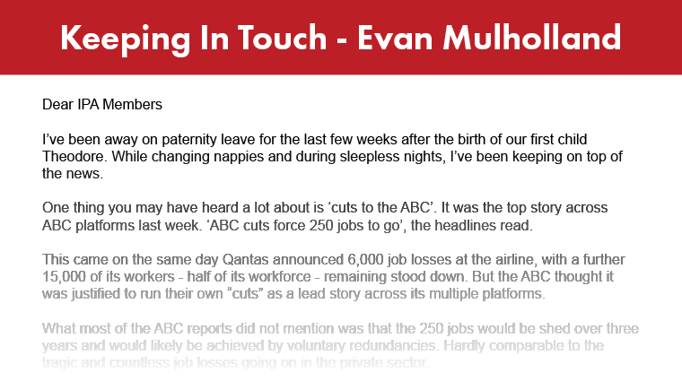 Cuts to the ABC? – IPA Keeping in Touch – 2 July 2020