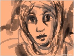 Watercolour of face