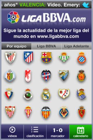 Liga Bbva Calendario Y Resultados.Aplicacion Liga Bbva Para No Perderte Ningun Resultado En Tiempo Real