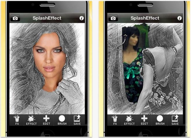 Splash Effect HD, transforma tu imagen parcialmente en un dibujo