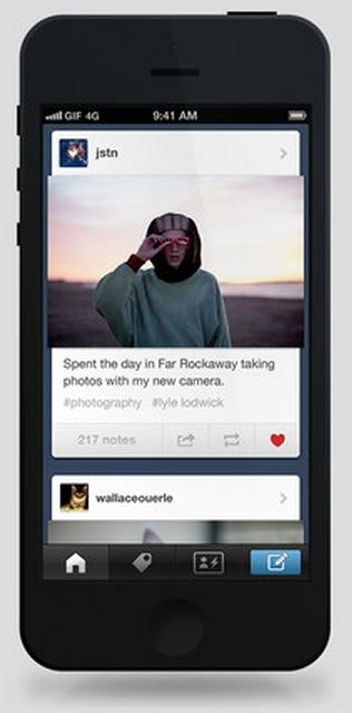 Tumblr se actualiza en los dispositivos con iOS para hacerse más social