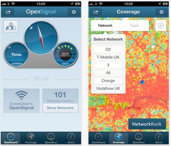 OpenSignal, localiza los mejores puntos de conexión y Wi-Fi gratis