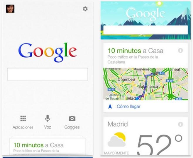 Búsqueda de Google se actualiza con la función de Google Now