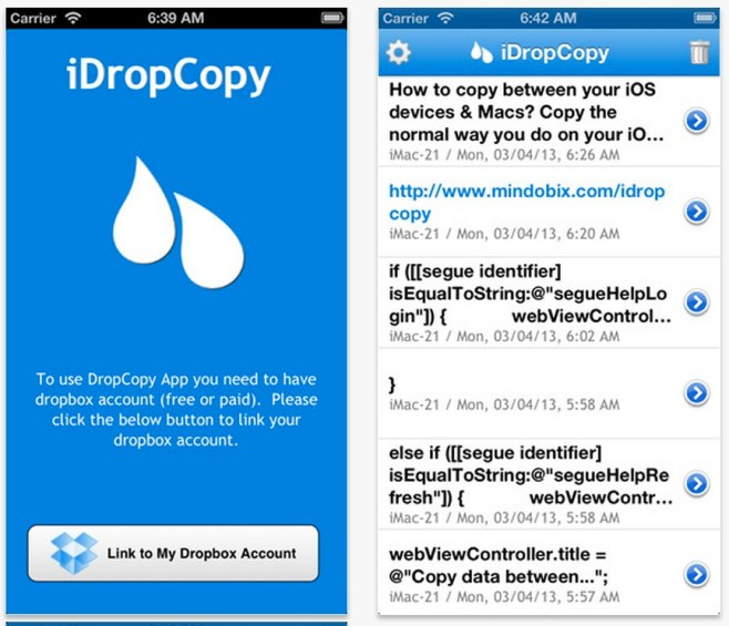 iDropCopy, portapapeles virtual en la nube