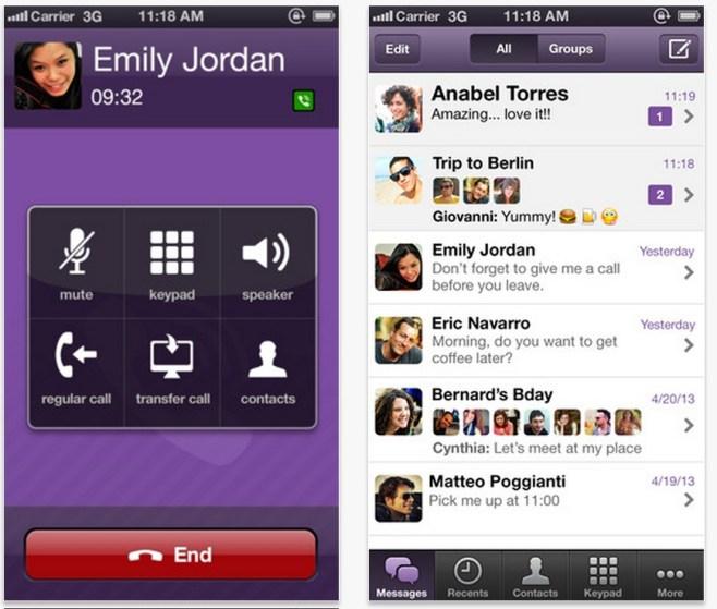 Viber se actualiza a la versión 3.0 para los dispositivos con iOS