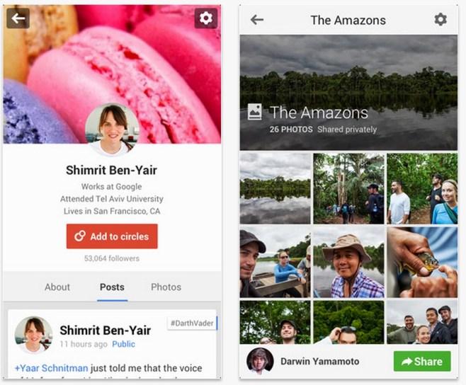 Google actualiza su aplicación de red social, Google +, para iOS