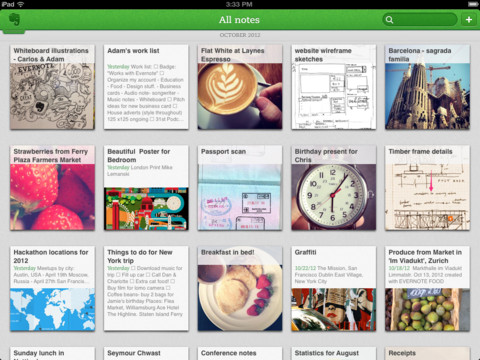 Nueva actualización de Evernote para iOS