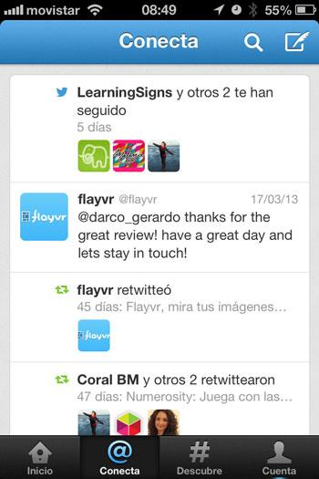 Twitter recibe una nueva actualización, pasa a la versión 5.6