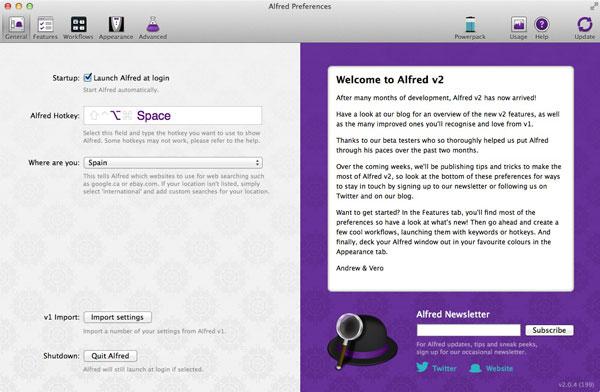 La utilidad Alfred para Mac se actualiza