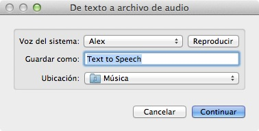 Convertir documentos de texto en archivos de audio