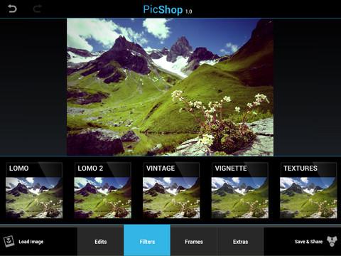 PicShop HD, un estudio fotográfico en tu iPad