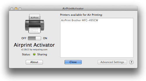 airprint activator  windows 10