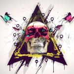 iPad Retina Wallpaper Art Skull