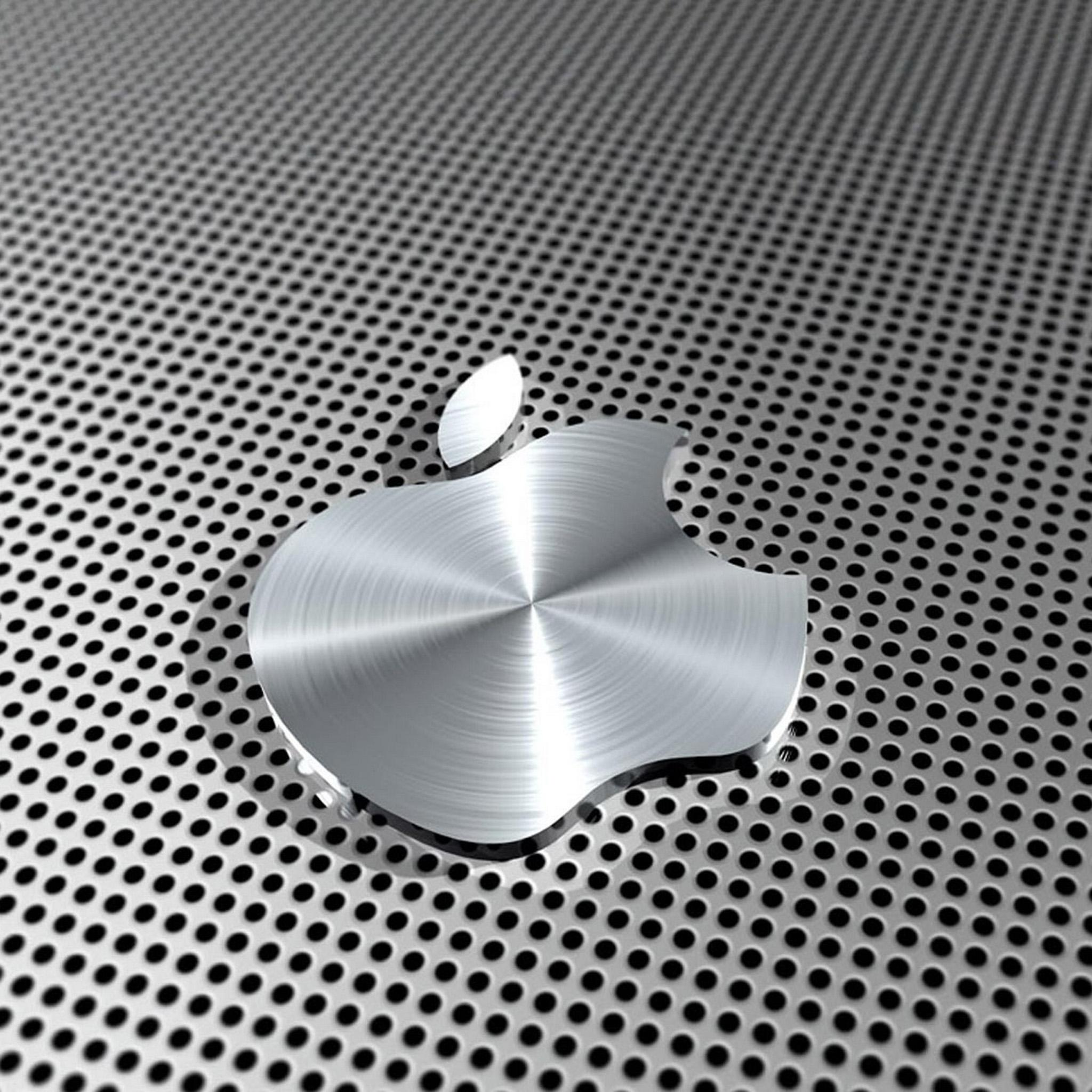 ipad retina hd wallpaper apple logo in steel - ipad, ipad air, ipad