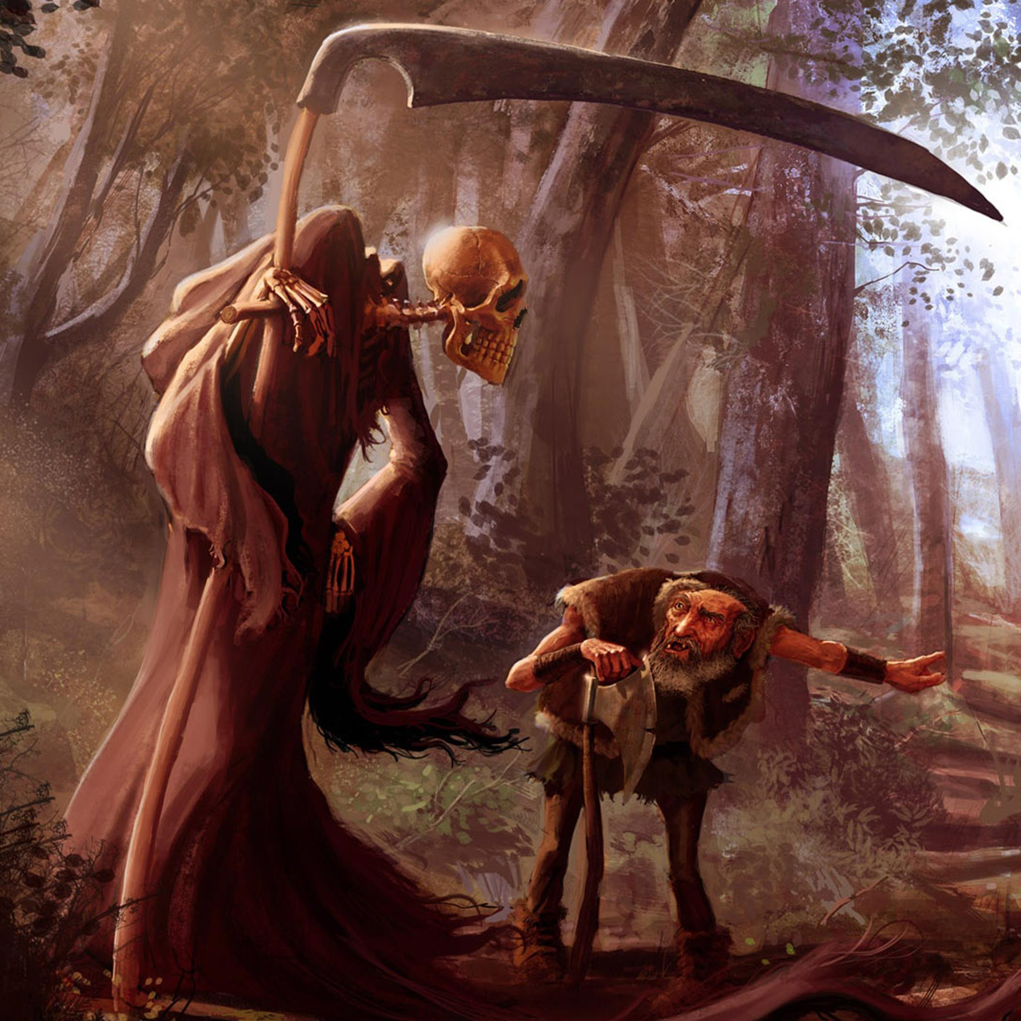 iPad Retina HD Wallpaper Death Art