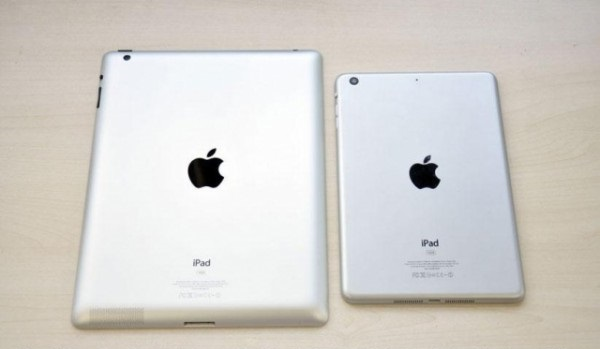 iPad and iPad mini comparison back