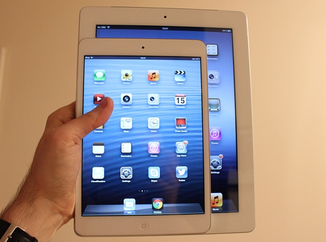 iPad and iPad mini comparison front