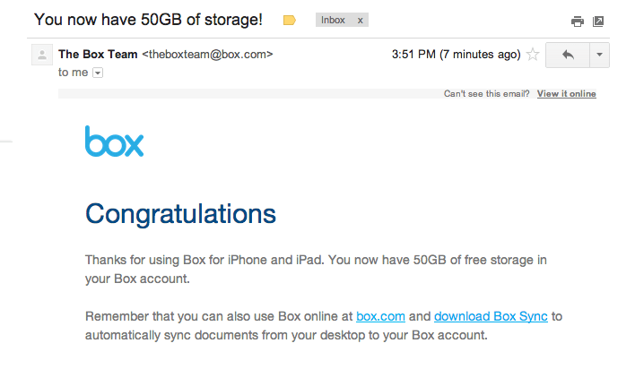 Box Now Offers 50GB of Free Cloud Storage to iPhone and iPad