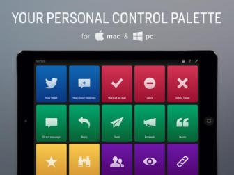 actions personal control palette