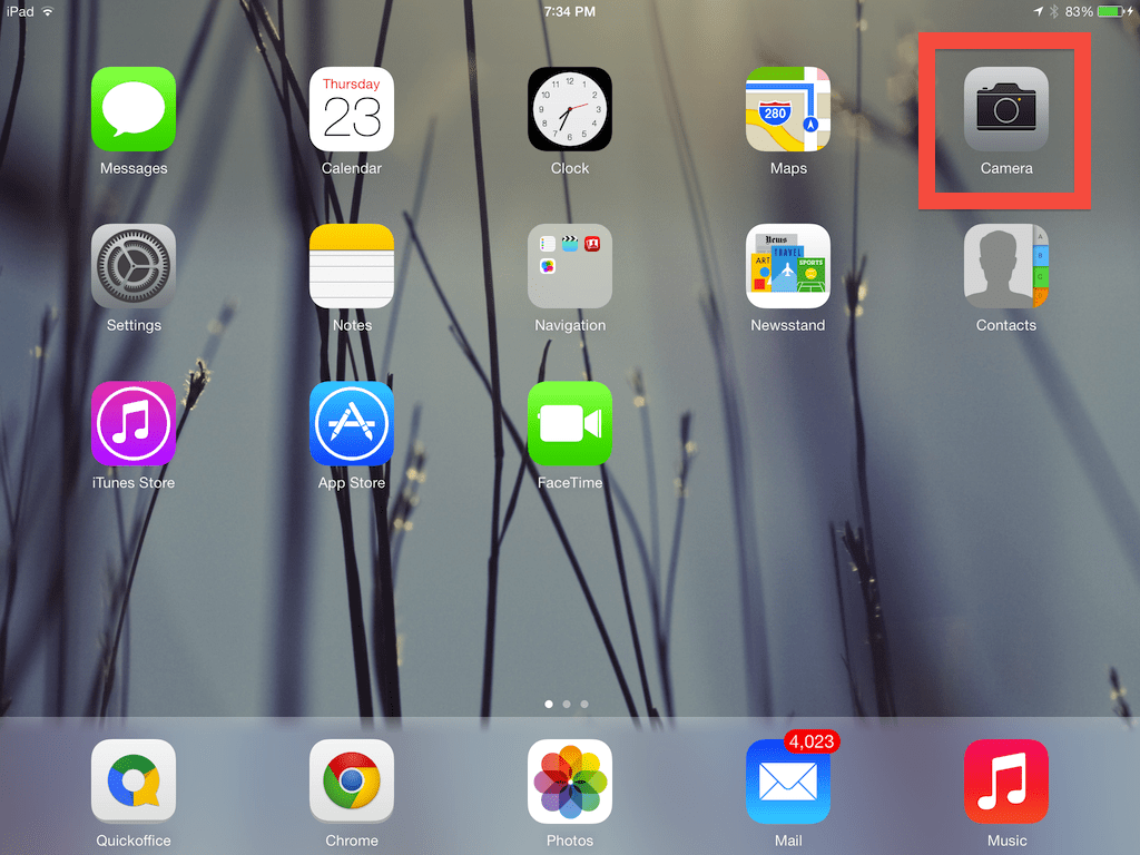 Step #1: Select The Camera Icon From Your Ipad Desktop Open The Camera App  How Much Does It Cost To Build
