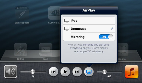 how to set up airplay mirroring on ipad 2