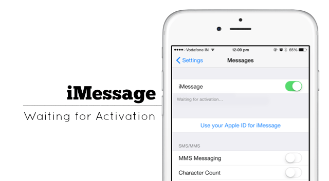 imessage activation unsuccessful iphone 7