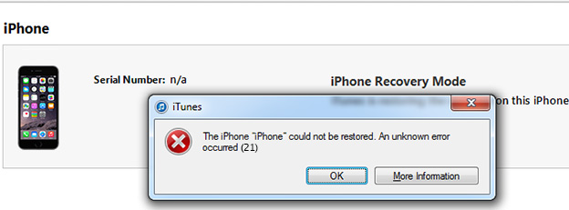 Fix-Error-21-When-Restoring-or-Updating-iPhone