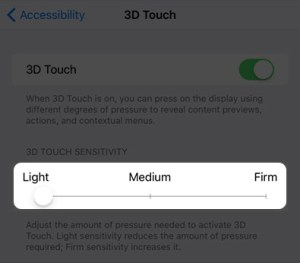 3D touch not working